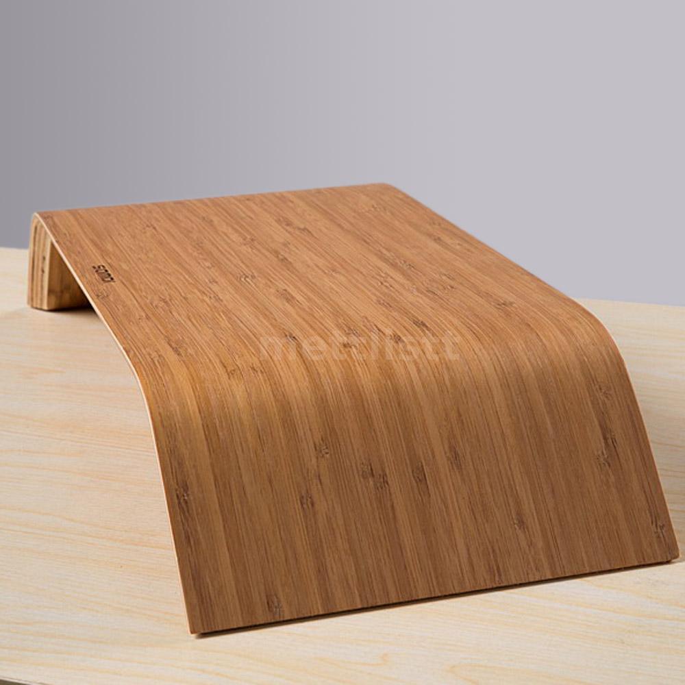 desktop monitor erh hen bambus st nder unterlage monitorst nder f r imac pc q0tq ebay. Black Bedroom Furniture Sets. Home Design Ideas