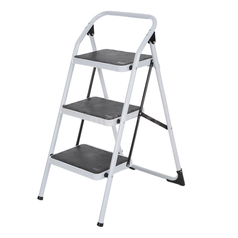 leiter klappleiter haushaltsleiter klapptritt 3 stufen bis 150kg aluleiter z4a3. Black Bedroom Furniture Sets. Home Design Ideas